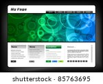 web template in the blue and... | Shutterstock .eps vector #85763695