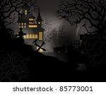 halloween background with... | Shutterstock .eps vector #85773001