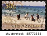 Small photo of NEW ZEALAND - CIRCA 2008: A stamp printed in New Zealand shows image of the Chronicles of Narnia movie, Prince Caspian, circa 2008