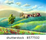farmland in tuscany  italy. my... | Shutterstock . vector #8577532
