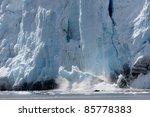 spectacular glacier calving   Shutterstock . vector #85778383