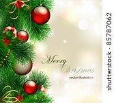 vector christmas background... | Shutterstock .eps vector #85787062
