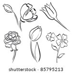 flower art line | Shutterstock . vector #85795213