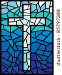 Vector Stained Glass Cross ...