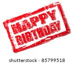 happy birthday stamp | Shutterstock .eps vector #85799518