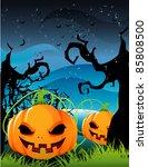 halloween pumpkin vector | Shutterstock .eps vector #85808500