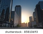 The modern buildings of the city skyscrapers. - stock photo