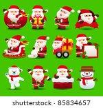 christmas santa clause xmas... | Shutterstock .eps vector #85834657