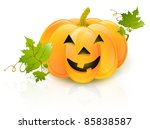 big halloween pumpkin with... | Shutterstock .eps vector #85838587