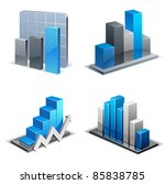 charts and graphs collection.... | Shutterstock .eps vector #85838785
