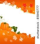 autumn illustration with orange ...   Shutterstock .eps vector #85840777