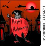 dracula  happy halloween | Shutterstock .eps vector #85842745