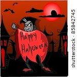 dracula  happy halloween | Shutterstock .eps vector #85842745