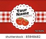 tomato sauce vector label | Shutterstock .eps vector #85848682