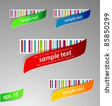 set of color labels with bar... | Shutterstock .eps vector #85850299