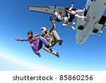 skydiving photo | Shutterstock . vector #85860256