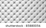 illustration of white  leather upholstery - stock photo