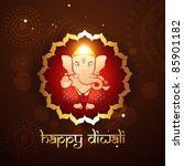 hindu lord ganesh illustraton   Shutterstock .eps vector #85901182