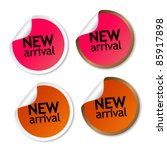 new arrival stickers | Shutterstock .eps vector #85917898