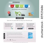 editable web template | Shutterstock .eps vector #85925686