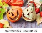 Halloween Pumpkins  Still Life.