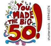 an image of a 50th happy... | Shutterstock .eps vector #85941076