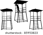 silhouettes of watchtowers....