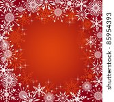 christmas background with... | Shutterstock .eps vector #85954393