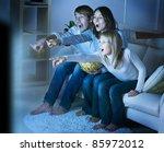 Family Watching Tv .true...