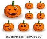 vector jack o lanterns... | Shutterstock .eps vector #85979890