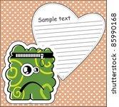 cartoon monster with message...   Shutterstock .eps vector #85990168