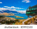 Cityscape Of Queenstown With...