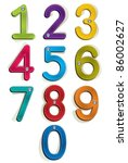 clothes style numbers set. | Shutterstock .eps vector #86002627
