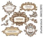 set of royal vintage frames...   Shutterstock .eps vector #86012893