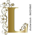 capital letter l gold | Shutterstock .eps vector #86024860
