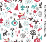 christmas seamless pattern | Shutterstock .eps vector #86025265