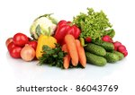fresh vegetables isolated on... | Shutterstock . vector #86043769