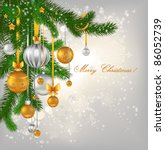 golden and silver christmas... | Shutterstock .eps vector #86052739