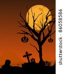 moon background with hanging... | Shutterstock .eps vector #86058586