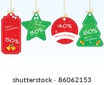 christmas sale labels vector... | Shutterstock .eps vector #86062153