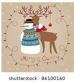christmas background with... | Shutterstock .eps vector #86100160