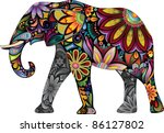 the cheerful elephant. the... | Shutterstock .eps vector #86127802