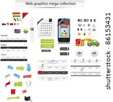 large collection of web graphics | Shutterstock .eps vector #86153431