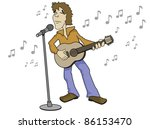 Singer With Guitar And...