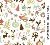 christmas seamless pattern | Shutterstock .eps vector #86167558