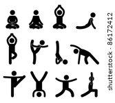yoga meditation exercise...   Shutterstock .eps vector #86172412