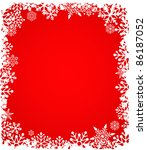 christmas red background with... | Shutterstock . vector #86187052