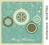 christmas background with retro ... | Shutterstock .eps vector #86187061