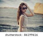 Cute Woman Wearing Sunglasses