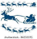 reindeer and santa claus. the...   Shutterstock .eps vector #86210191